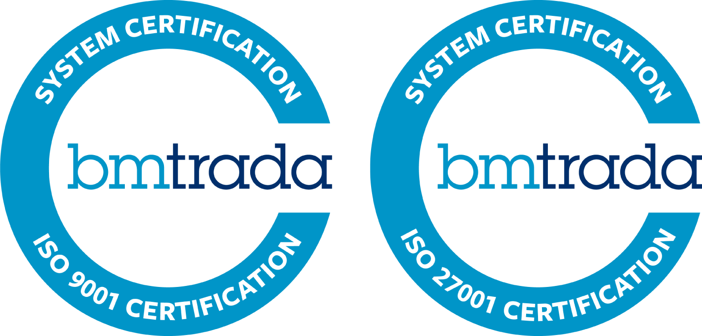 ISO 9001 and ISO 27001 Certification Logos