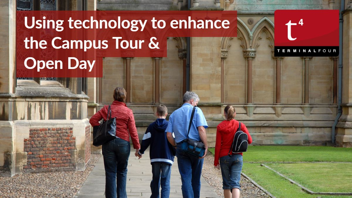 Data shows that a student attending a Campus Visit has a 80% higher chance of applying. How can technology make it a better experience?