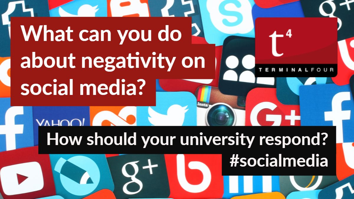 How should your university react? It is not enough to have a customer service or public relations strategy in place...