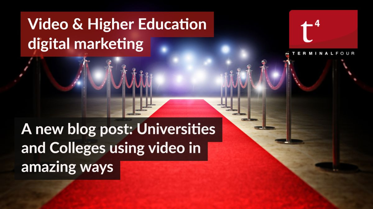 Celebrate the best of higher education film. Video is such a powerful medium through which universities can reach their audiences.