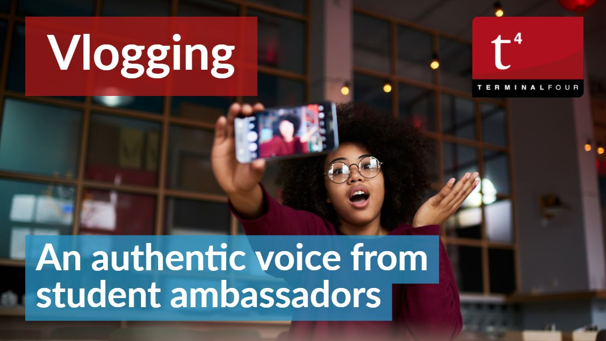 Student vlogs are becoming increasingly important for universities as away to provide an authentic insight into university life.
