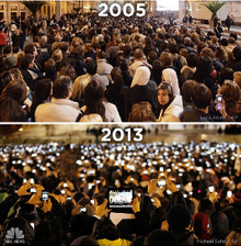 Vatican City in 2005 and in 2013