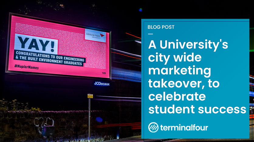 A University's city wide marketing takeover, to celebrate student success blog Post feature image