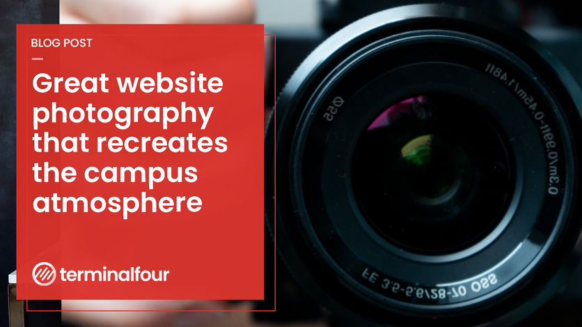 Great website photography that recreates the campus atmosphere blog Post feature image