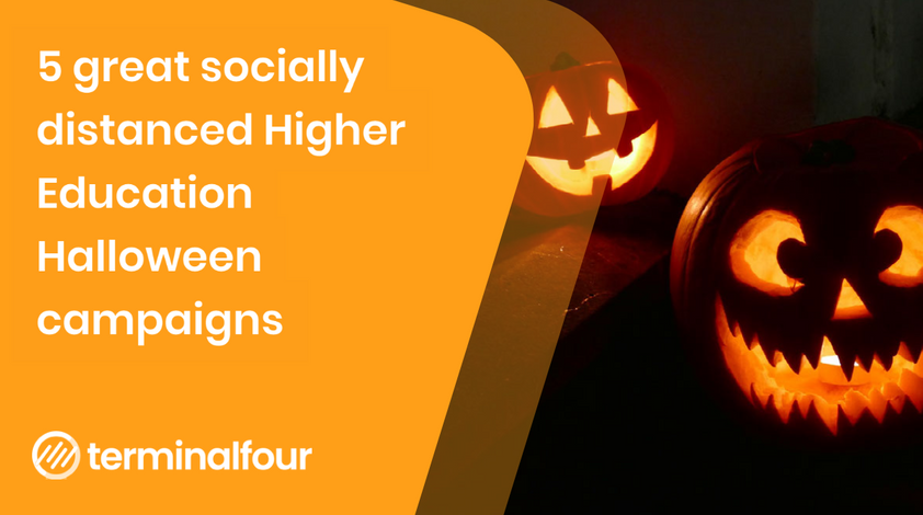 5 great Higher Education socially distanced Halloween campaigns and events blog Post feature image