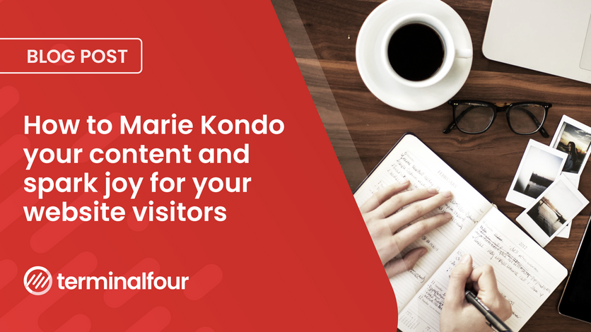 How to Marie Kondo your content and spark joy for your website visitors blog Post feature image