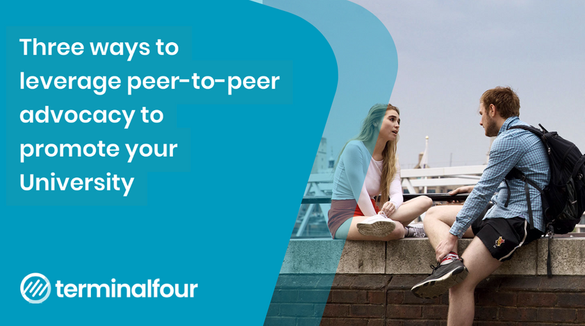 Three ways to leverage peer-to-peer advocacy to promote your University blog Post feature image