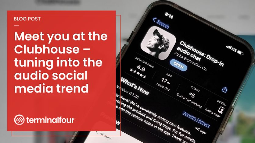 Meet you at the Clubhouse: How Universities can tune in to audio social media blog Post feature image