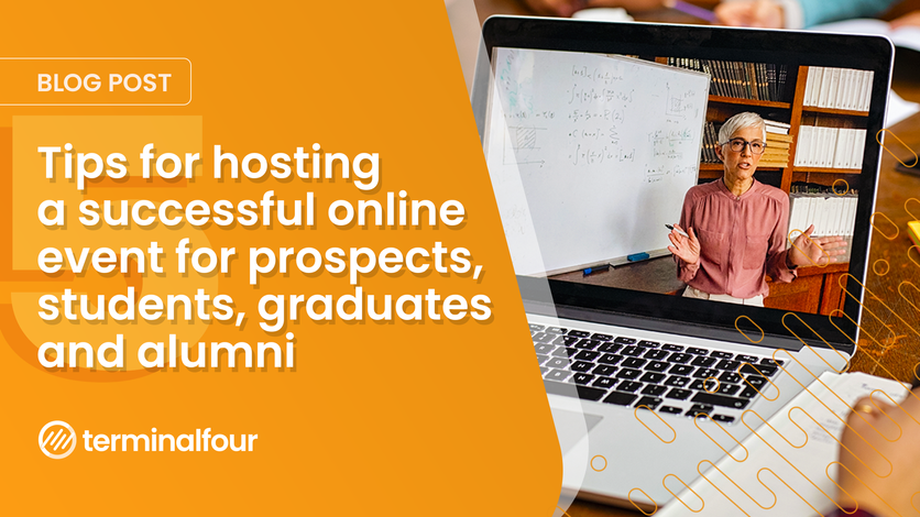 Host a successful online event for prospects, students, graduates and more blog Post feature image
