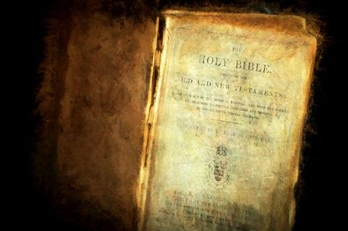 Image of an old Bible