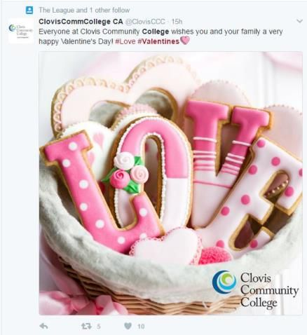 Image of a basket of cookies spelling Love