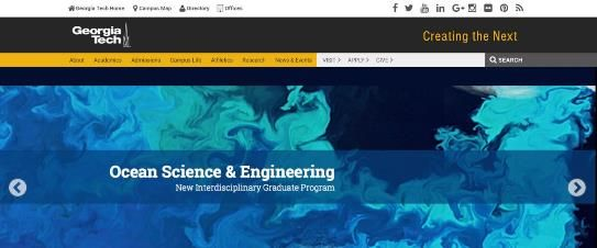 Screenshot of Georgia Tech Website