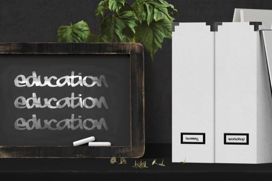 Image of chalk board with the words 'EDUCATION' on it
