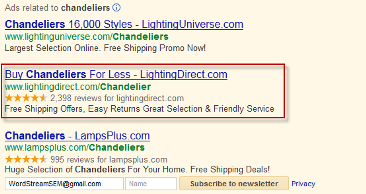PPC-ad-chandelier-example
