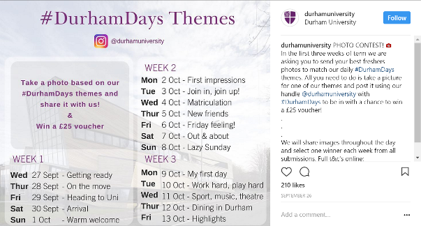 A snapshot of the Durham Instagram