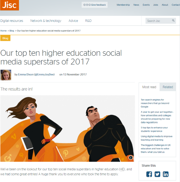 Jisc blog post