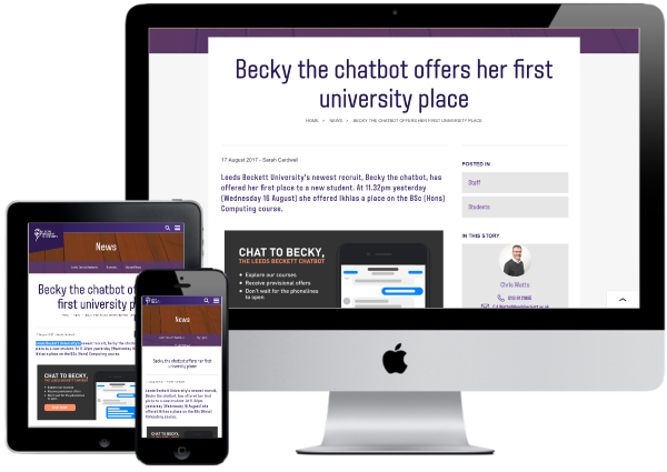 Leeds Beckett University Becky Chatbot