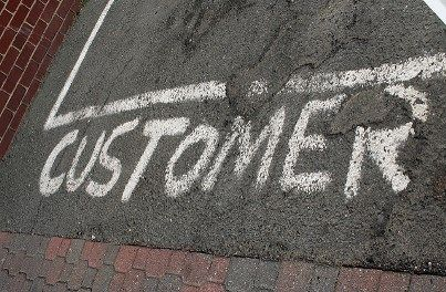 Chalk image of customer parking space