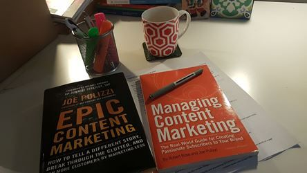 Image of two content marketing books