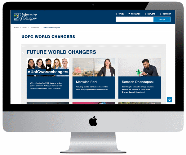 University of Glasgow World Changers