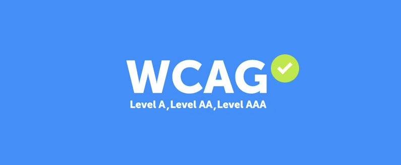 WCAG Logo and A to triple A rating